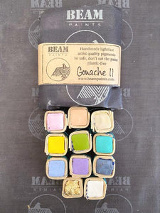 Set of 11 Gouache Paintstones