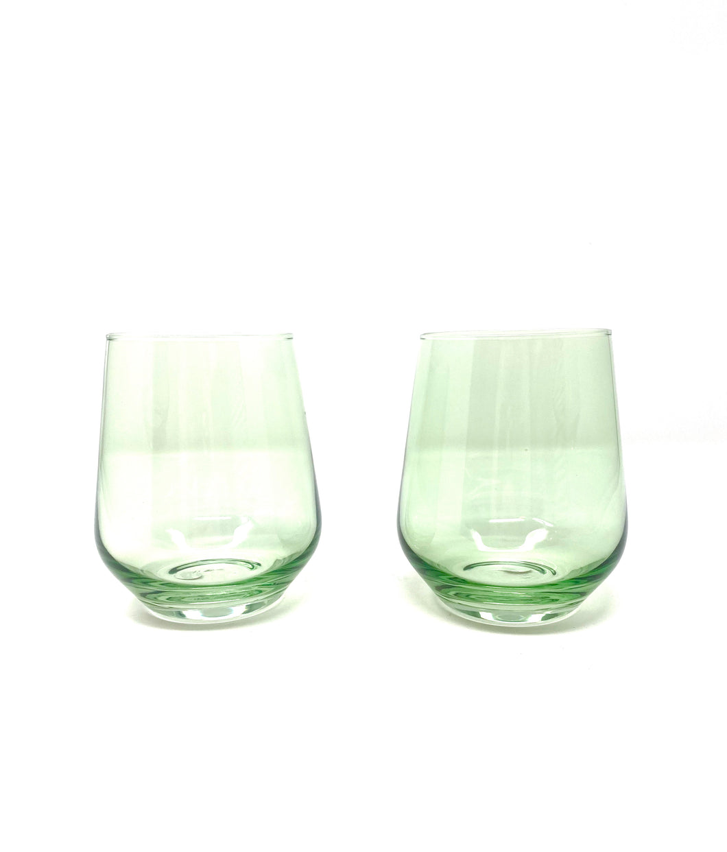 Mint Green Stemless Wine Glasses
