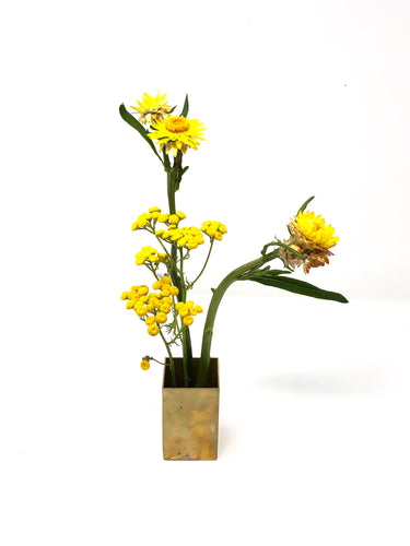 Brass Ikebana Holder