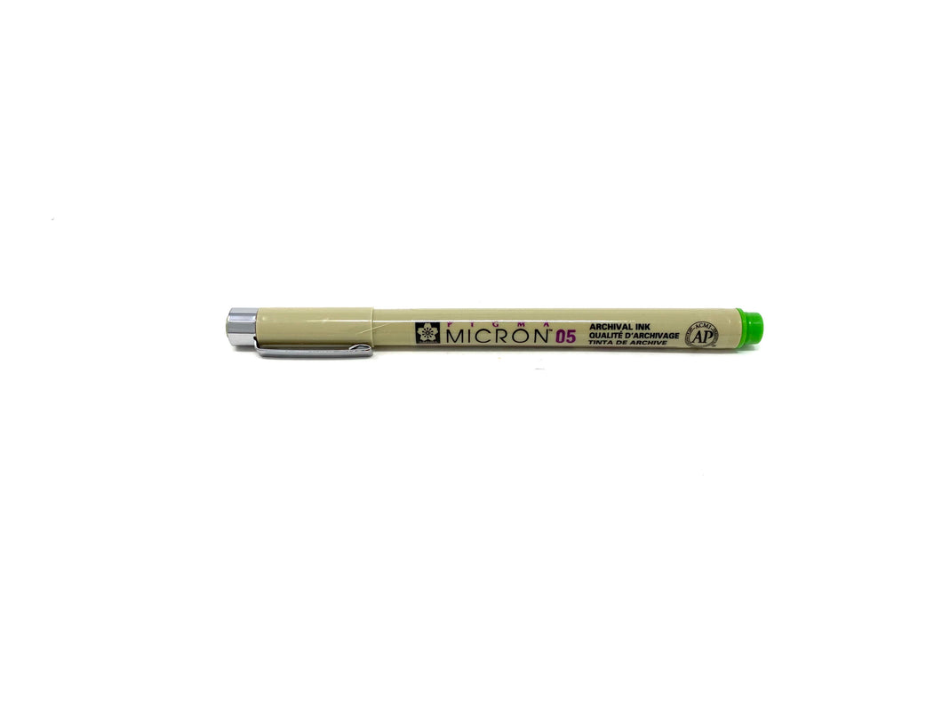 Micron Pen in Light Green