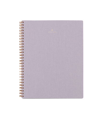 Lavender Gray Spiral Notebook