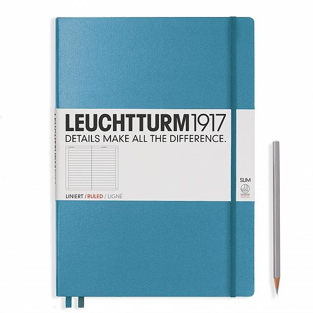 Nordic Blue Master Slim A4 Notebook - Ruled