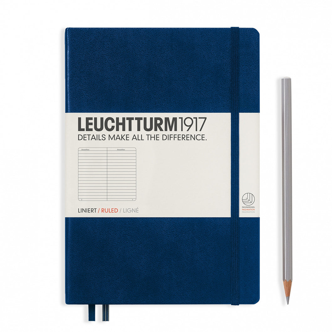 Navy A5 Notebook - Ruled
