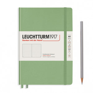 Sage A5 Notebook - Dotted