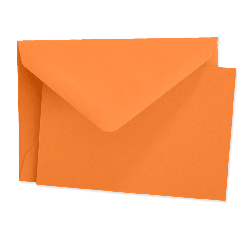 Color Vellum Mini Card Set of 10 - Orange