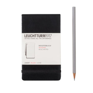 Black Ruled Reporter Pocket Notepad