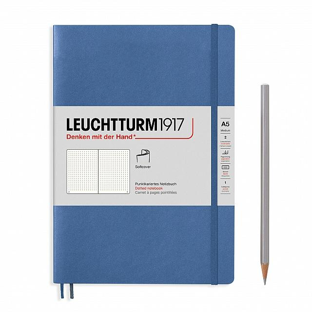 Denim A5 Soft Cover Notebook - Dotted