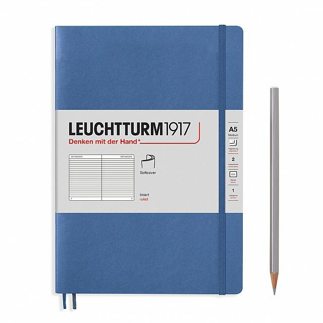 Denim A5 Soft Cover Notebook - Ruled