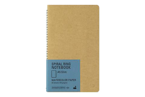 A5 Slim Watercolor Paper Notebook