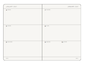 A5 2021 Weekly Planner in Bellini