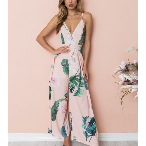 Boho Tropical Palm Leaf Cami