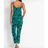 Sexy Green Leaf Backless Playsuit