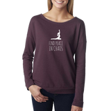 Find Peace in Chaos Long Sleeve Scoopneck