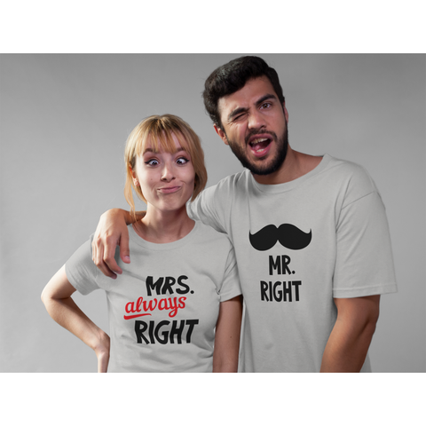 Mr and Mrs Right Couple T-Shirt