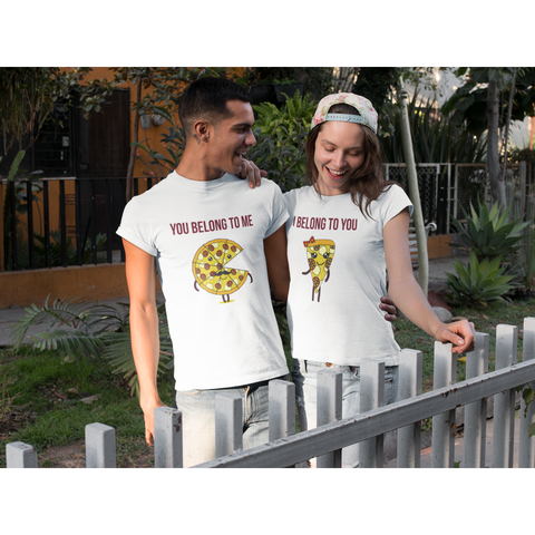 I Belong To You Pizza T-Shirt For Couples