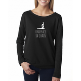 Find Peace in Chaos Long Sleeve Scoopneck - Zen Apparel