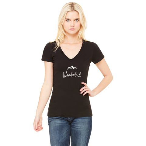Wanderlust Deep V-Neck Tee - Zen Apparel