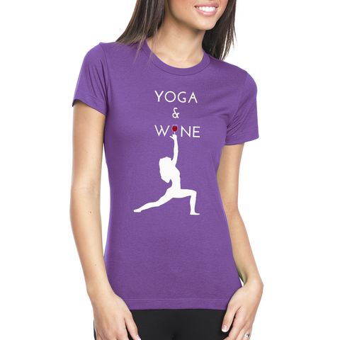 Yoga and Wine Premium Tee - Zen Apparel