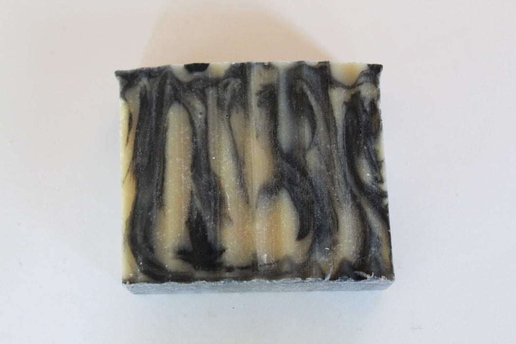 Charcoal Swirl Goat's Milk Soap