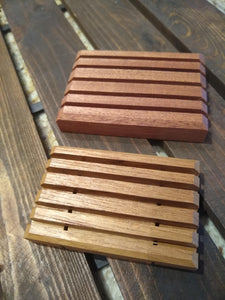 Handcrafted Solid Teak or Mahogany Soap Deck