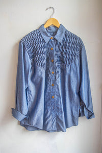 Handmade Denim Shirt & Skirt Set
