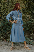 Load image into Gallery viewer, Handmade Denim Shirt & Skirt Set