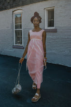 Load image into Gallery viewer, 60s Pink Maxi Dress