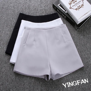 2018 New Summer hot Fashion New Women Shorts Skirts High Waist Casual Suit Shorts Black White Women Short Pants Ladies Shorts - LyLyDress