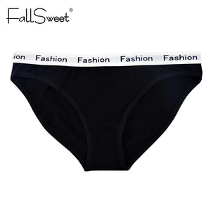 FallSweet 3 pcs/ Pack ! Cotton Panties for Women Briefs Comfort Underwear Plus Size M L XL XXL - LyLyDress