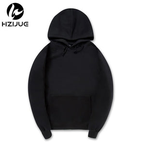 Fashion Color Hooides Men's Thick Clothes Winter Sweatshirts Men Hip Hop Streetwear Solid Fleece Hoody Man Clothing USA SIZE - LyLyDress