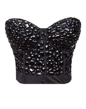 High quality and low price Sexy Lingerie Sexy Women's Corset Rhinestone Cover Bustier Top - LyLyDress