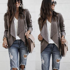 Hot Fashion Women Coat Jackets Business Long Sleeve Jacket Outwear Irregular Tops Overcoat Autumn - LyLyDress