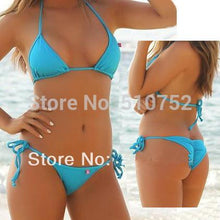 MANYIER swimsuit summer new Hot sexy pure color women bikini set bandage swimsuit brazilian multi-color swimwear bikini women - LyLyDress