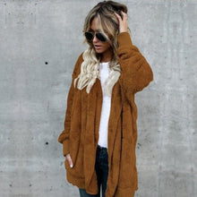 New Fashion Women Coat Long Sleeve Cardigan Top Casual Winter Outwear Coat Women Clothes Overcoat - LyLyDress