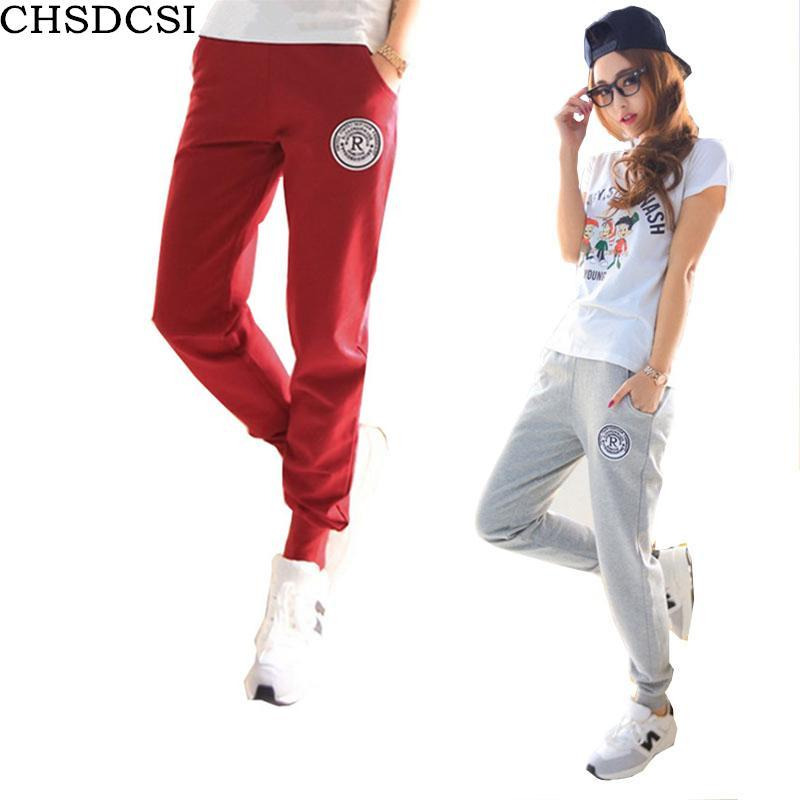 32716071430 Plus Size 2018 New 100% Cotton Pants Women Deportes Pants Casual Loose Thin  Trousers Ankle ...