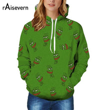 Raisevern New Sweatshirt Hoodies 3D Print Pepe The Frog Hip Hop Tops Casual Long Sleeve Sweat Shirt Hooded Tops - LyLyDress