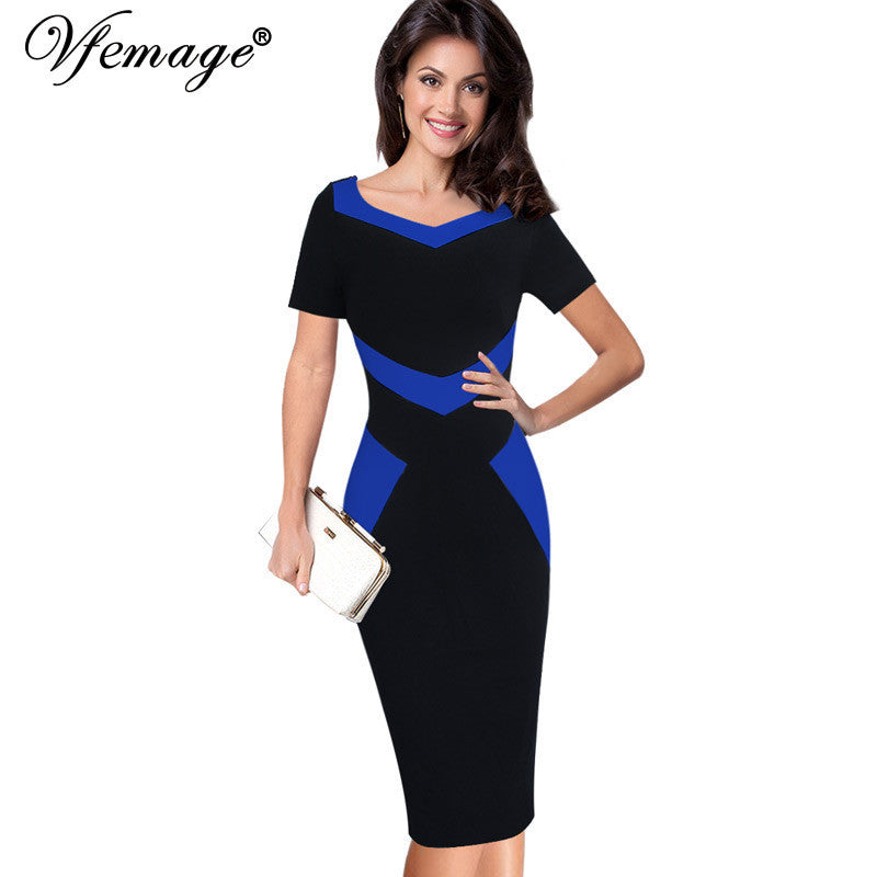01dc1d6e8ef ... 2018 Slim Casual Work Office Business Party Bodycon Pencil Dress