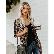 Women Coat Jackets Long Sleeve Top Casual Leopard Print Cardigan Outwear Coat Autumn Women Fashion Overcoat - lemonclothes