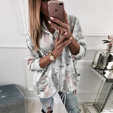 Women Coat Winter Warm Floral Hooded Zipper Print Long Sleeve Outwear Coats Jacket Tops Autumn Women Clothes - lemonclothes