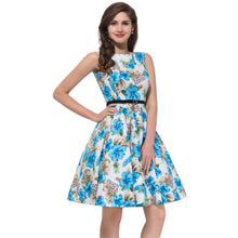 2018 plus size clothing Audrey hepburn Floral robe Retro Swing Casual 50s Vintage Rockabilly Dresses Vestidos - LyLyDress