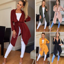Women Trench Long Sleeve Cardigan Coat Casual Top Jacket Coat Outwear Autumn Spring Women Tops Overcoat