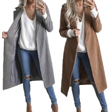 Women Wool & Blends Autumn Winter Long Sleeve Pockets Women Coat Casual Outwear New Fashion Women Clothes