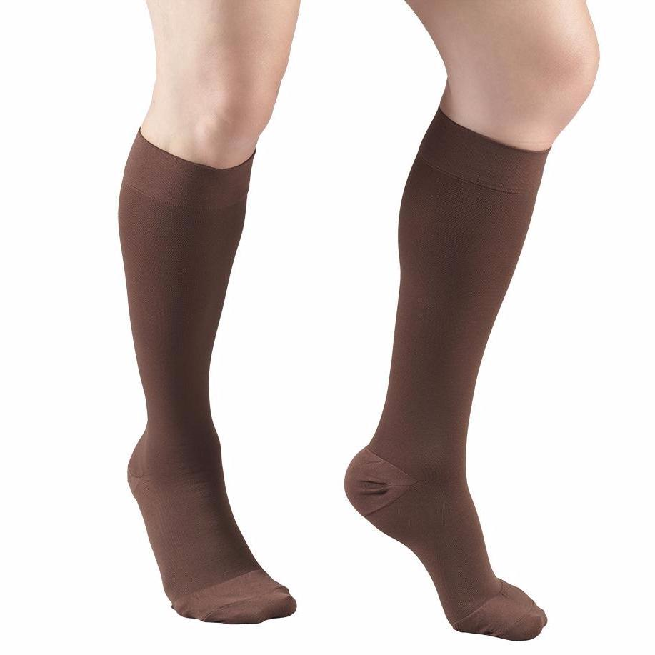 8865 Below Knee Closed Toe Brown Stockings