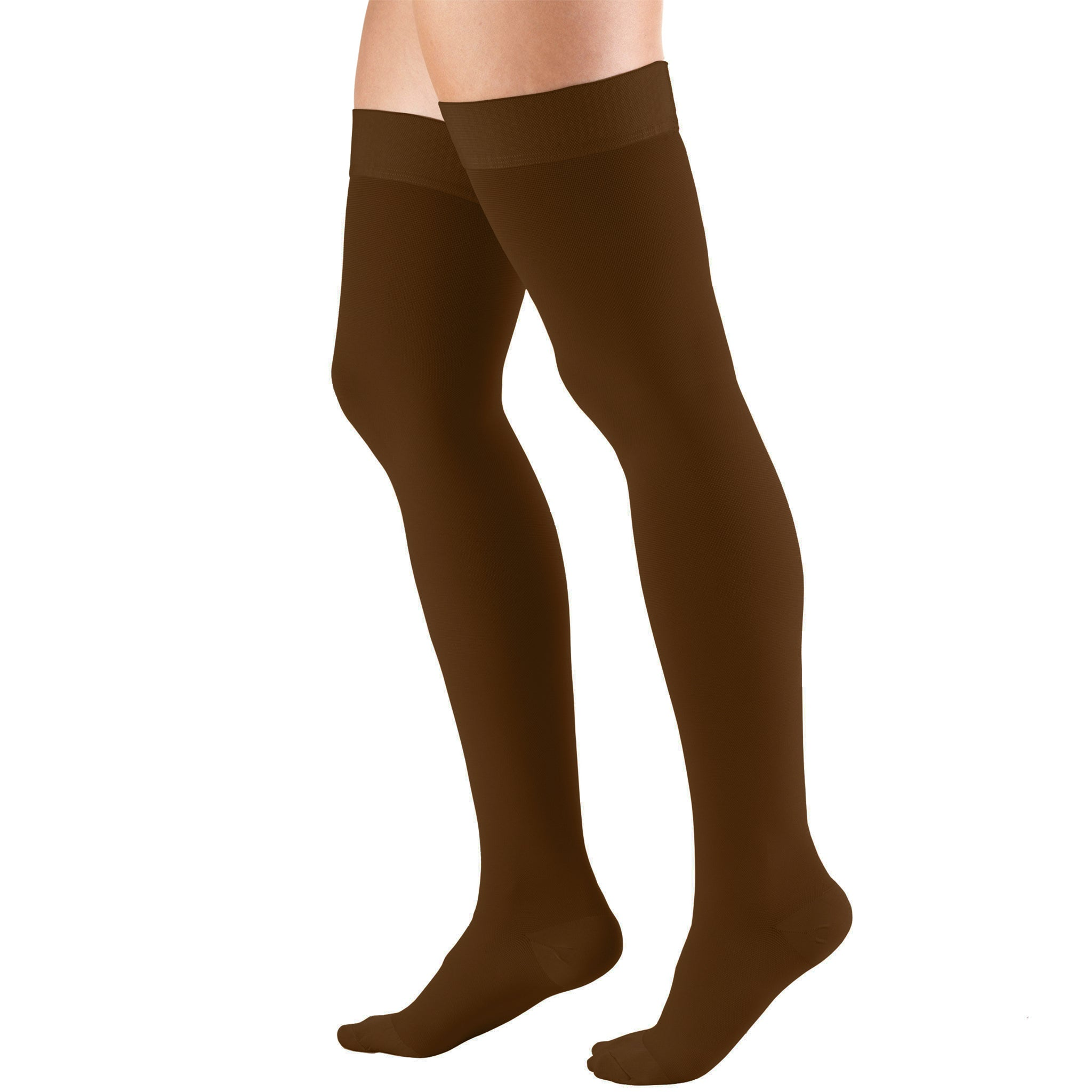 8868 THIGH HIGH CLOSED TOE BROWN STOCKINGS