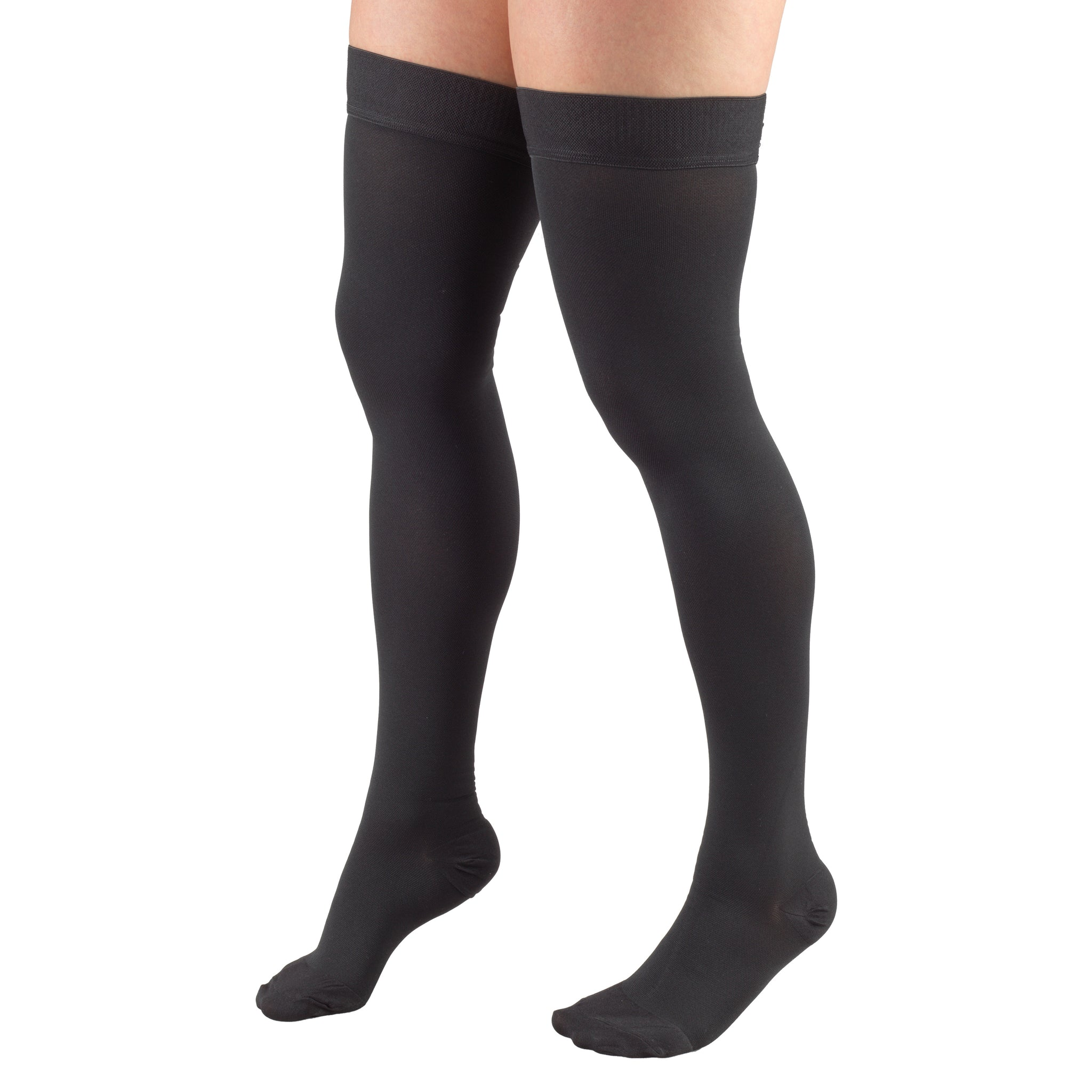 8868 THIGH HIGH CLOSED TOE CHARCOAL STOCKINGS