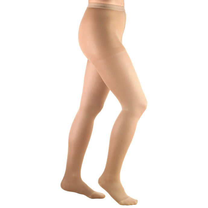 0375 / Truform Compression Pantyhose / 15-20 mmHg / Opaque Microfiber / Beige