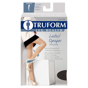 0375 / Truform Compression Pantyhose / 15-20 mmHg / Opaque Microfiber / Packaging