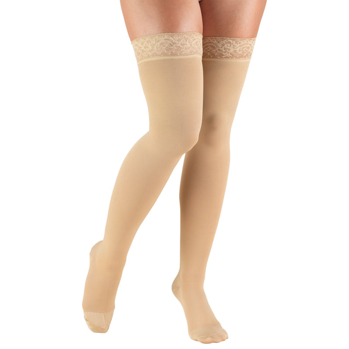 8867 / Truform Compression Stockings / 20-30 mmHg / Thigh High / Lace Top