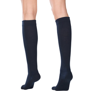 1963 / Truform Compression Socks for Women / 15-20 mmHg / Knee High / Cushion Foot / Navy