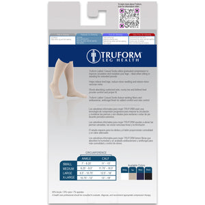 1963 / Truform Compression Socks for Women / 15-20 mmHg / Knee High / Cushion Foot / Packaging